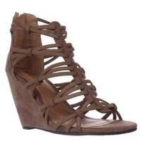 MIA Womens Dylon Open Toe Casual Strappy Sandals, Black, Size 6.5