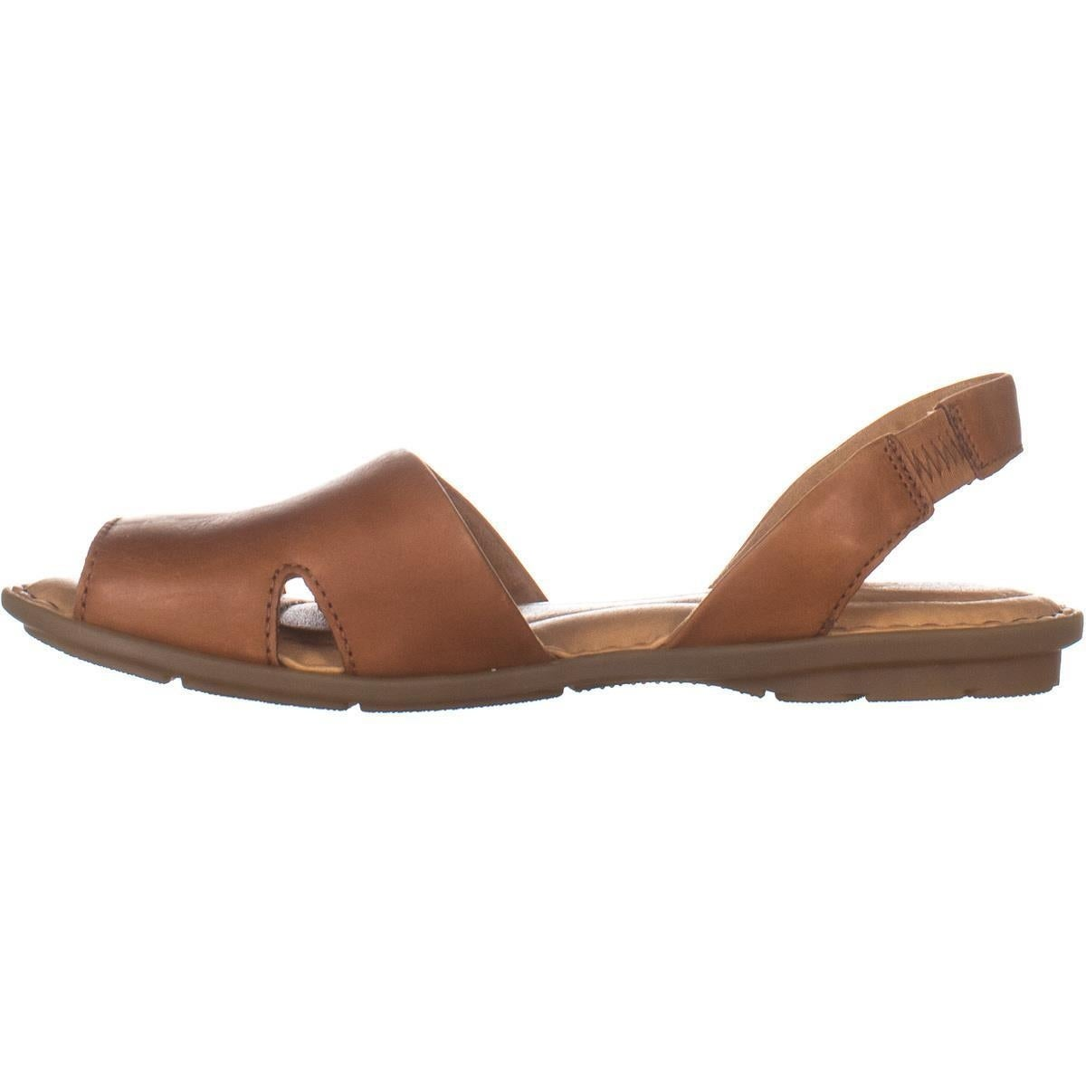 Born Kibbee Slingback Flat Sandals, Tan