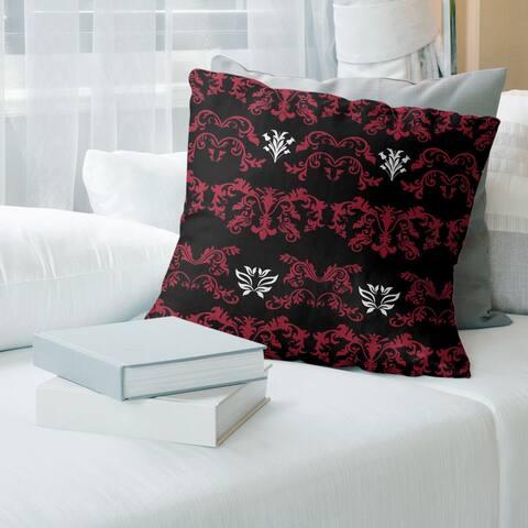 Atlanta Football Baroque Pattern Accent Pillow-Spun Polyester