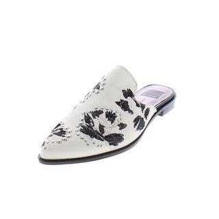 Dolce Vita Womens Harmony Mules Embroidered Leather