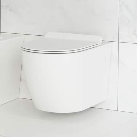 St. Tropez Wall Hung Toilet Bowl, White