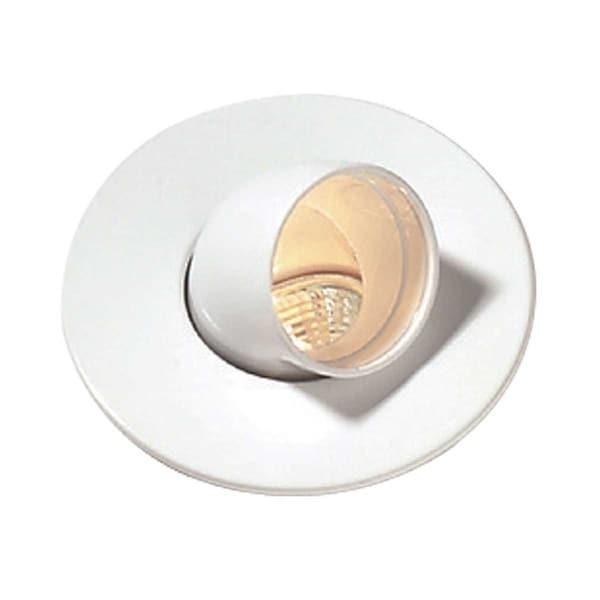 Renovator's Supply White Urethane Spot Light Trim Recessed Durable Foam 6 1/2 ID