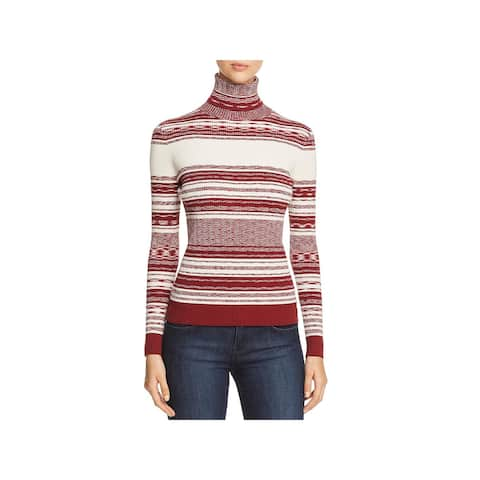 Tory Burch Womens Turtleneck Sweater Mixed Stripe Turtleneck