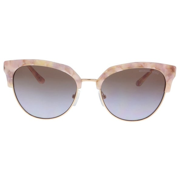 8b64686554a Michael Kors MK1033 3340168 Pastel Pink Mosaic  Pale Gold Cat eye Sunglasses  - 54-