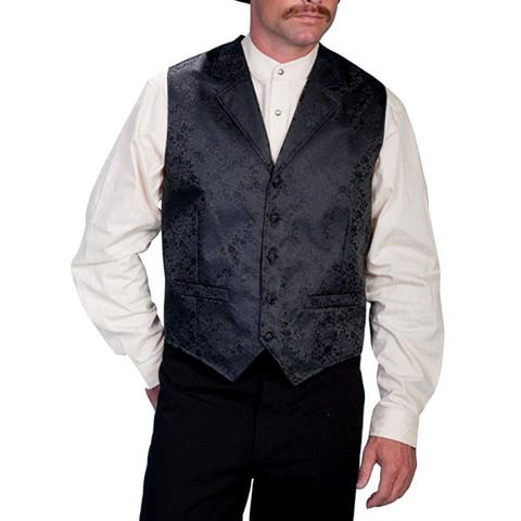 Scully Western Vest Mens Dragon Pattern Lined Dry Clean Only