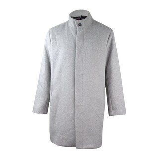 Alfani Collection Men's Wool Blend Top Coat (Whispy Grey Heather, XL) - whispy grey heather