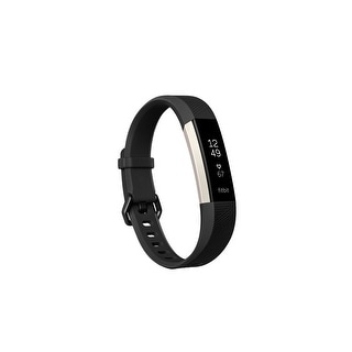 Fitbit - Alta HR Activity Tracker + Heart Rate (Large) - Black
