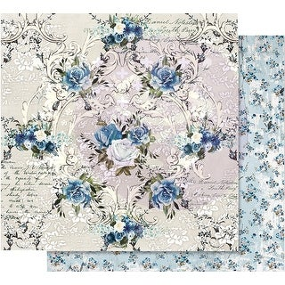 """Georgia Blues Foiled Double-Sided Cardstock 12""""X12""""-Morning Glory"""