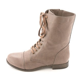Rampage Womens Jiminy Round Toe Ankle Combat Boots