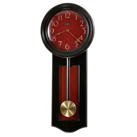 Howard Miller Alexi Rustic, Farmhouse Chic, Bold and Vibrant, Transitional Style Wall Clock with Pendulum, Reloj De Pared
