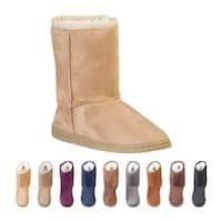 DAWGS Women's 9 Inch Faux Shearling Microfiber Vegan Boots
