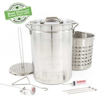 Link to Bayou Classic® 32-qt Stainless Steel Turkey Fryer Kit Similar Items in Grills & Outdoor Cooking