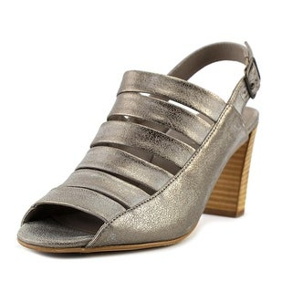 Paul Green Joan Women  Open-Toe Leather Silver Heels