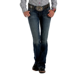 Cruel Girl Western Denim Jeans Womens Abby Slim Whiskers Dk CB45154071 (Option: 32 Inch)