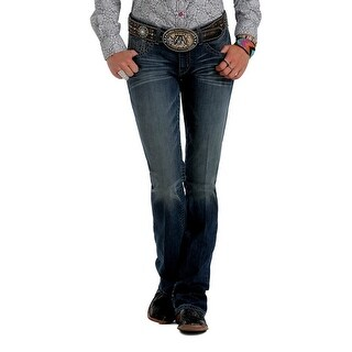 Cruel Girl Western Denim Jeans Womens Abby Slim Whiskers Dk CB45154071