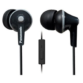 Panasonic ErgoFit In-Ear Earbud Headphones with Mic + Controller (Black)