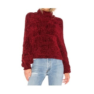 Free People NEW Red Womens Size Medium M Turtleneck Knitted Sweater