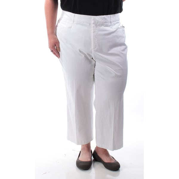 52252f7ec56674 Shop JM COLLECTION Womens White Capri Pants Plus Size: 3X - Free Shipping On  Orders Over $45 - Overstock - 21391332