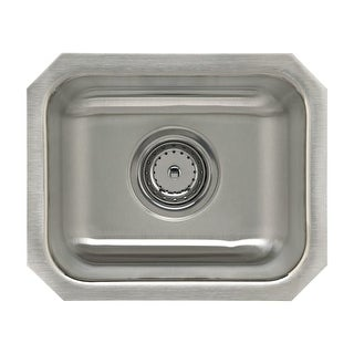 """Sterling UCL1515B SpringDale 14-1/4"""" Single Basin Undermount Stainless Steel Bar Sink with SilentShield?"""