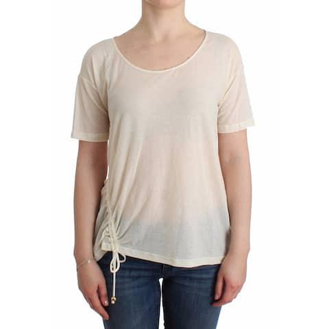 Ermanno Scervino Beachwear White T-Shirt Top Women's Blouse - it42-s