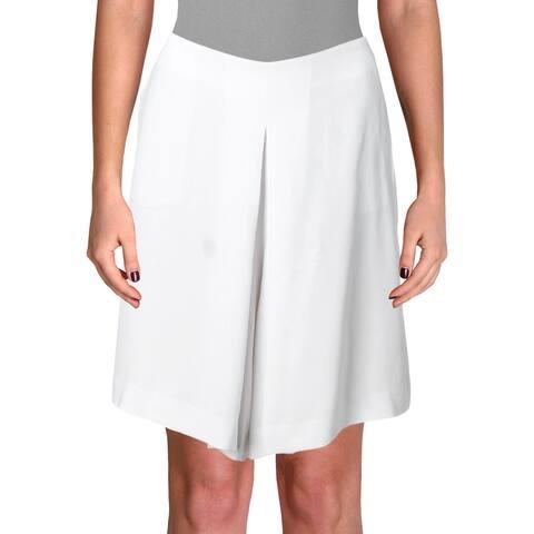 Lauren Ralph Lauren Womens Petites Shorts Crepe High Waist - White