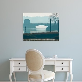 Easy Art Prints James McLoughlin's 'Scene on the Water IX' Premium Canvas Art