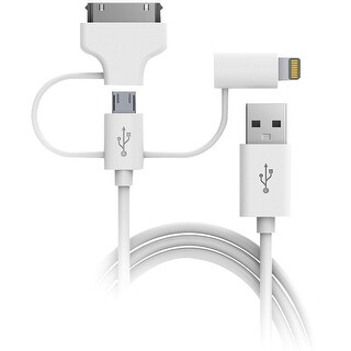 Digipower Charge & Sync 3-in-1 Lightning Cable 5ft