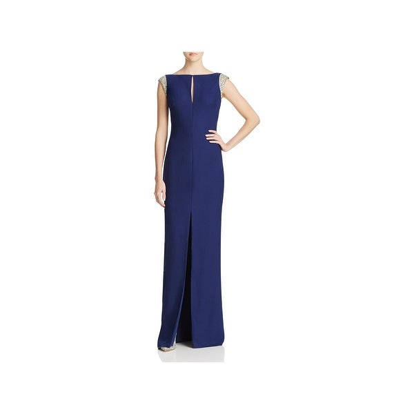 Aidan Mattox Womens Evening Dress Embellished V Back