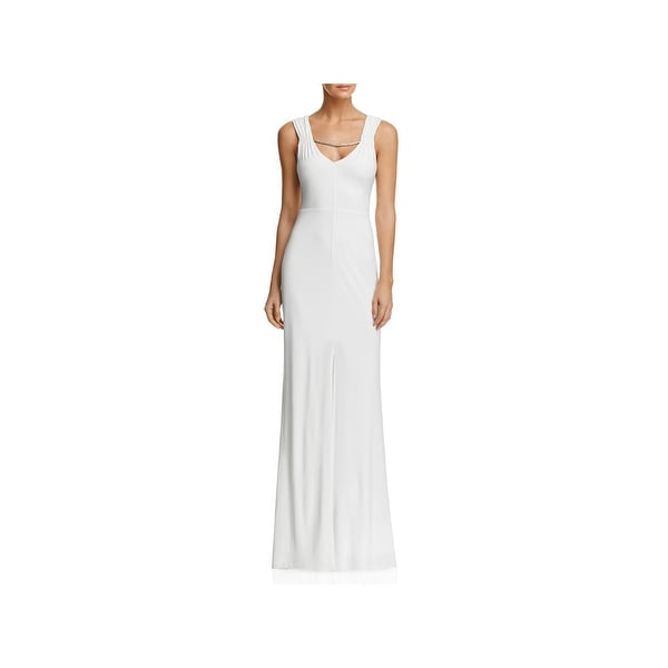 Laundry By Shelli Segal Womens Evening Dress Embellilshed Front