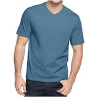 John Ashford Mens T-Shirt V-Neck Short Sleeves