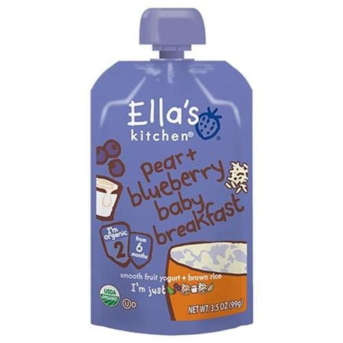 Ella's Kitchen - Blueberry & Pear Baby Brekkie ( 12 - 3.5 OZ)