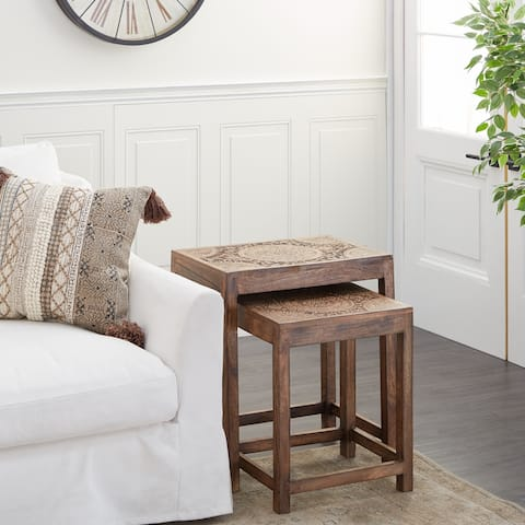 Wood Eclectic Accent Table - 22 x 14 x 24