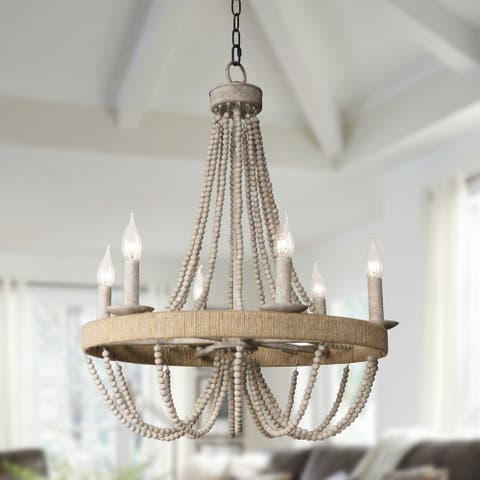 6-Light Candle Chandelier - 21.7