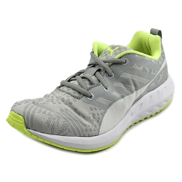 Puma Flare Woven Women  Round Toe Synthetic Gray Sneakers