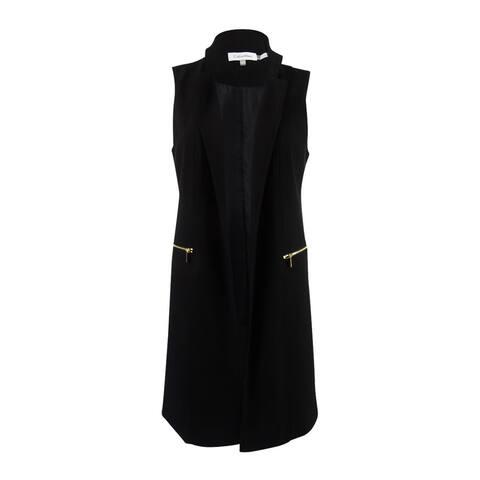 Calvin Klein Women's Lux Stretch Open-Front Vest (6, Black) - Black - 6