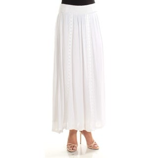 Womens White Casual Skirt Size L