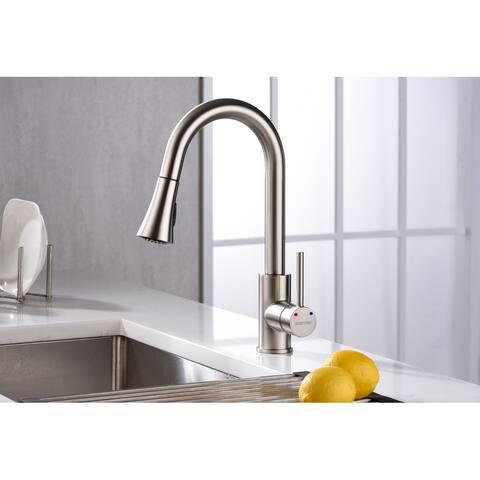 Karran Weybridge Single-Handle Pull-Down Sprayer Kitchen Faucet