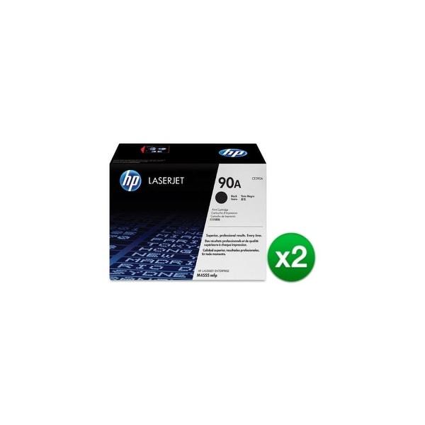 HP 90A Black Original LaserJet Toner Cartridge (CE390A)(2-Pack)