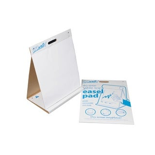 Pacon GoWrite Dry Erase Tabletop Non-Adhesive Easel Pad with Carrying Handle, 20 X 23 in, 10 Sheets, White
