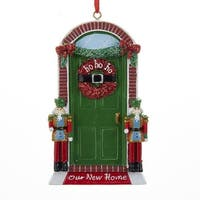 """Club Pack of 12 Bright Red and Green """"Our New Home"""" Christmas Ornaments 4.25"""""""