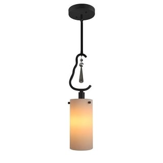 Woodbridge Lighting 14223-C10401 1 Light Single Mini Pendant with Cream Glass Shade and Crystal Accent from the Haley Collection