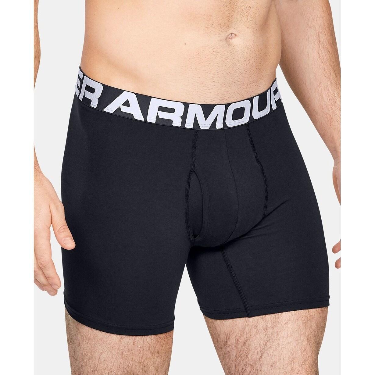 Under Armour Mens Boxerjock Black Underwear 3 Pk Black Size Extra Large - X-Large