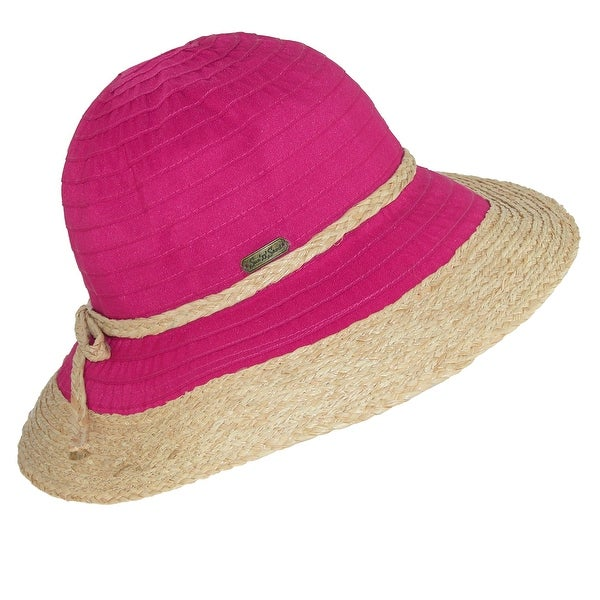 0ab7b50b13b Shop Sun N Sand Women's Ribbon Sun Hat with Raffia Trim - Ships To ...