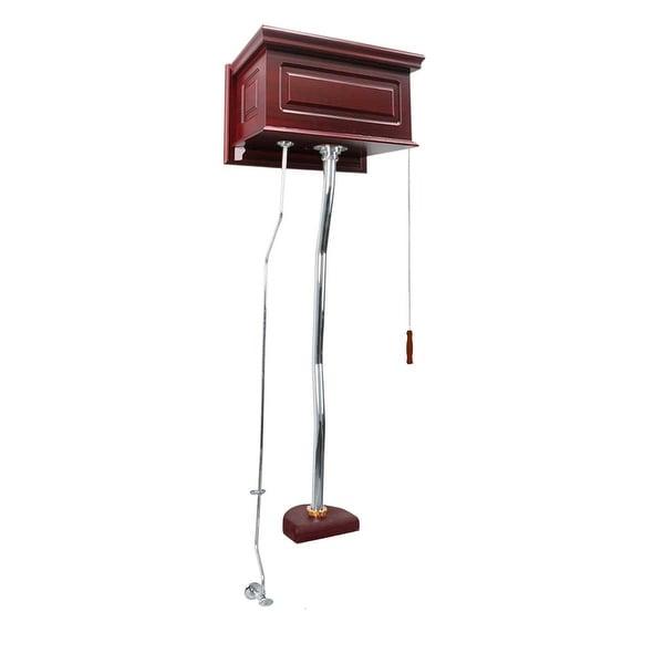 Renovator's Supply Cherry High Tank Pull Chain Toilet Conversion Kit Chrome Z-pipe
