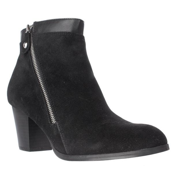 SC35 Jenell Side Zip Ankle Boots, Black
