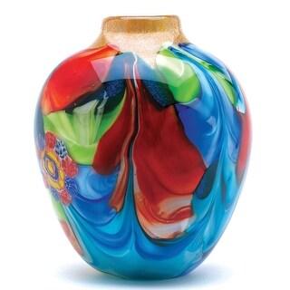 Koehler Floral Fantasia Art Glass Vase
