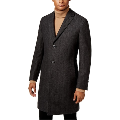 Hugo Boss Mens Red Label Herringbone Overcoat Dress - 44R