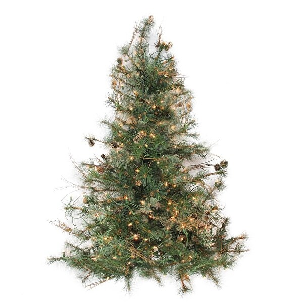 """3' x 40"""" Pre-Lit Country Mixed Pine Artificial Christmas Wall or Door Tree - Clear Lights"""
