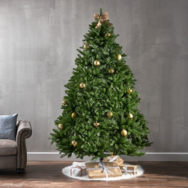 7.5-foot Norway Spruce Pre-Lit String Light or Unlit Hinged Artificial Christmas Tree by Christopher Knight Home. Opens flyout.