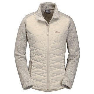 Jack Wolfskin NEW Gray Womens Size M Quilted Full Zip Space Dye Jacket